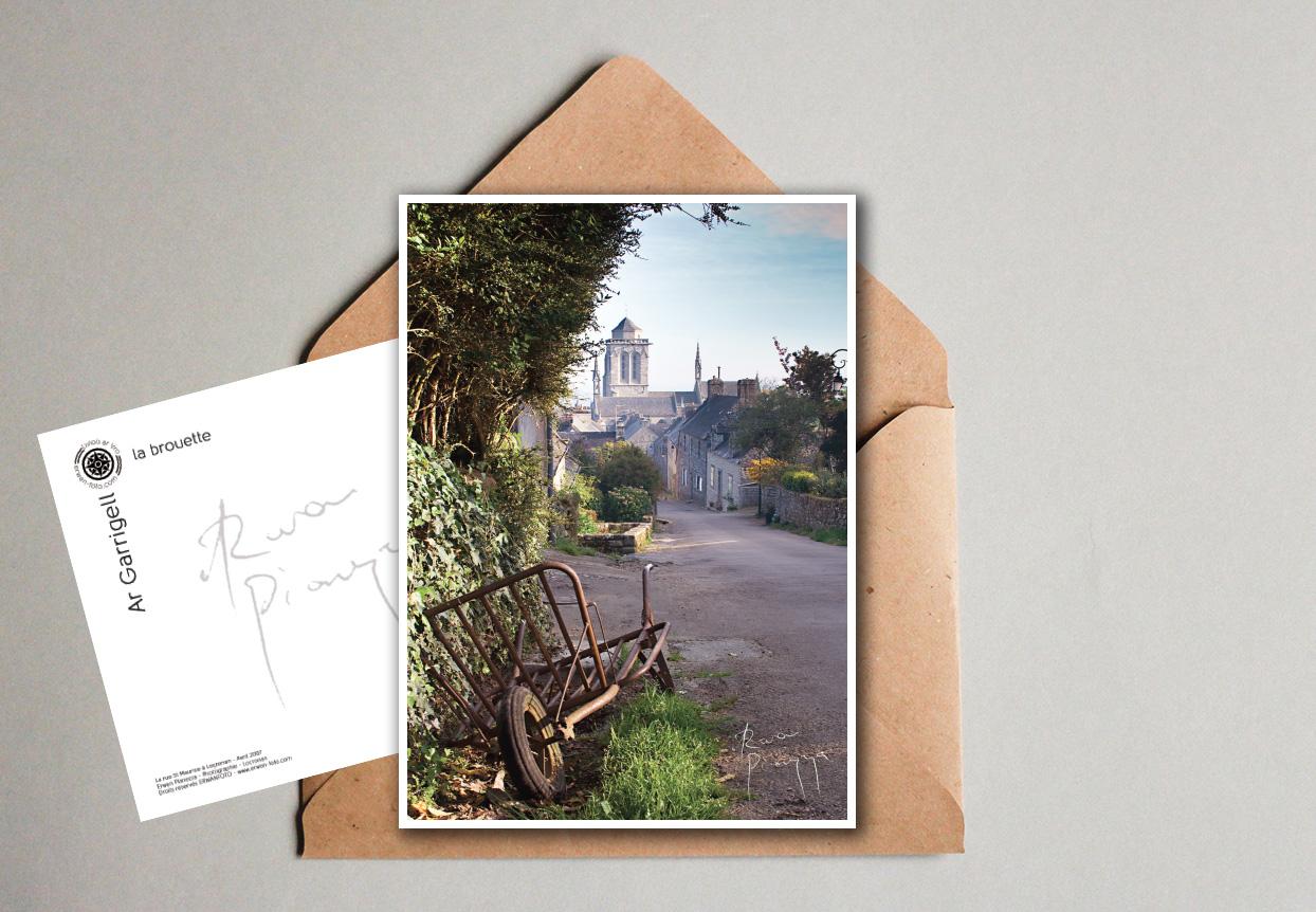 carte-postale-locronan-brouette